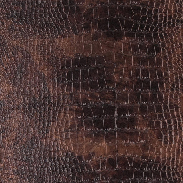Copper metallic alligator faux leather vinyl by the yard for Faux leather floor tiles