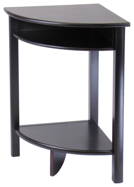 Winsome wood liso corner table cube storage shelf contemporary side tables and end - Contemporary side tables with storage ...
