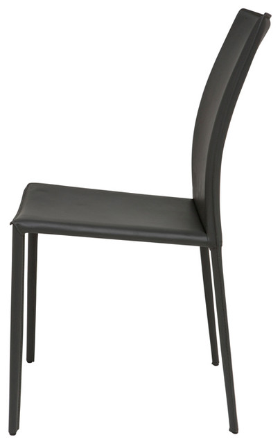Sienna Dining Chair Set Of 2 Dark Grey Contemporary Dining Chairs By
