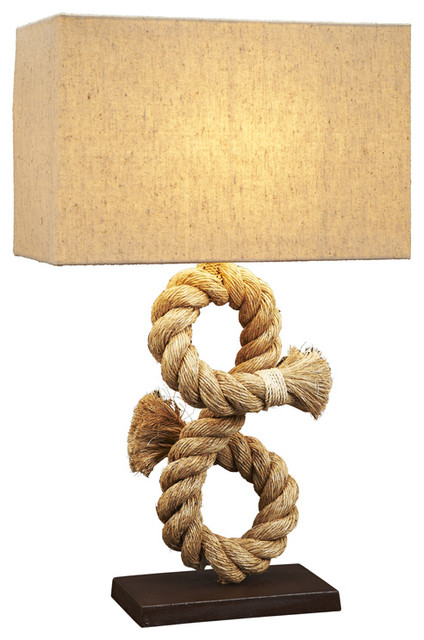 Rope knot table lamp beach style table lamps by