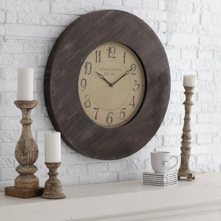 Williston 29.5 in. Reclaimed Rustic Oversized Wall Clock - Traditional - Clocks - by Hayneedle