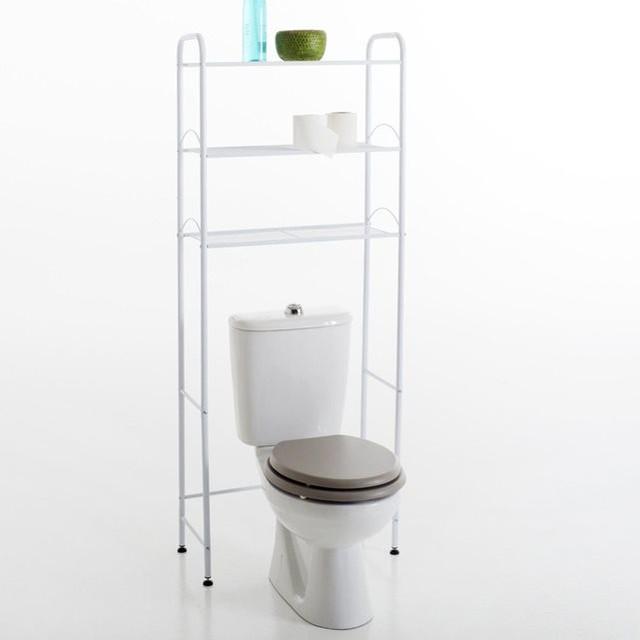 Meuble sp cial wc 2 coloris contemporain placard et tag re de salle de - Placard de salle de bain ...