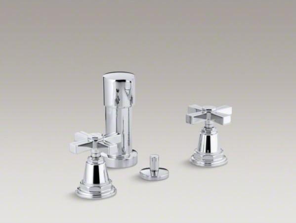 Kohler Pinstripe R Vertical Spray Bidet Faucet With Cross Handles Contemporary Bidet