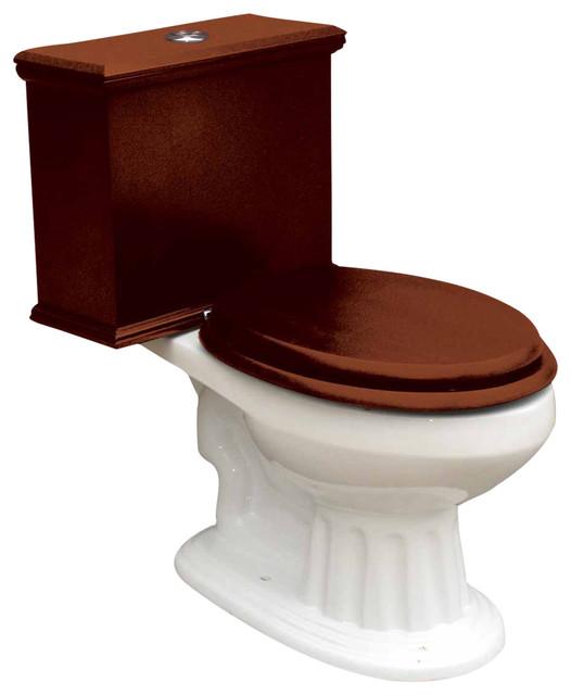 Toilets White Lowboy Flat Panel Elongated Dark Oak Finish ...
