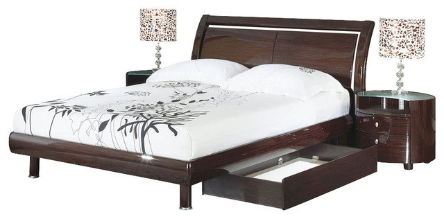 Emilie Bedroom Collection: Global Furniture USA Emily 4-Piece Sleigh Bedroom Set With