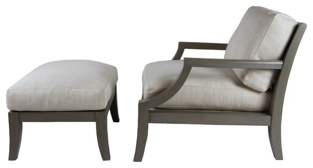 A rudin library grey chair and ottoman modern indoor chaise lounge chairs new york by - Library lounge chairs ...