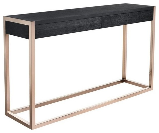 Chloe Console Table , Rose Gold and Black - Contemporary - Console Tables - by ARTeFAC