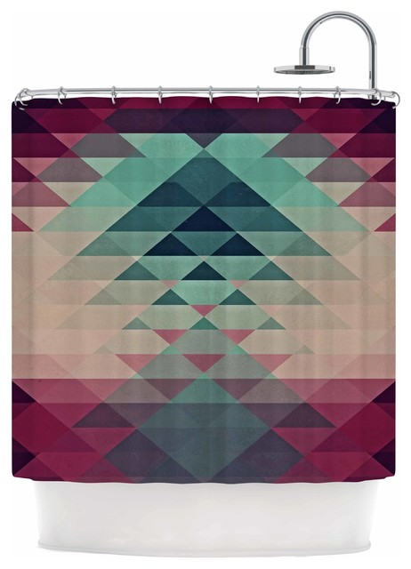 Nika Martinez Hipster Maroon Teal Shower Curtain Southwestern Shower Curtains By Kess