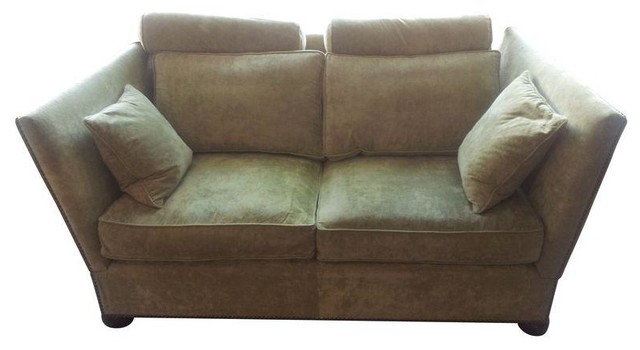 custom knole sofa with accent and bolster pillows contemporary sofas by chairish
