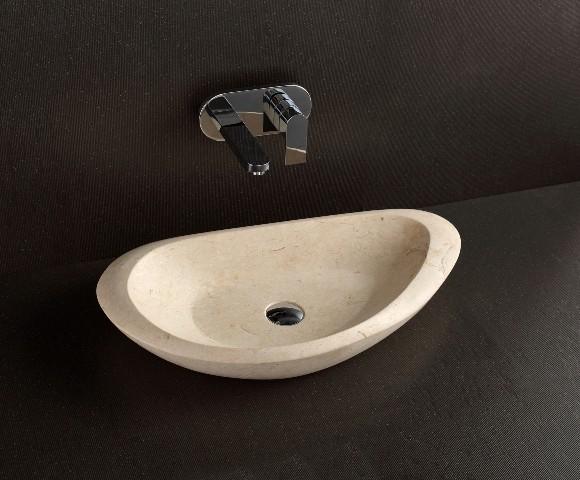 Era natural limestone designer basin modern bathroom for Designer bathroom sinks basins