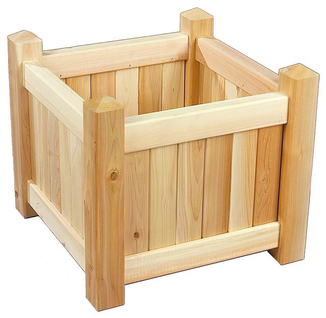 Rustic Natural Cedar 3122121 Wooden Planter Box