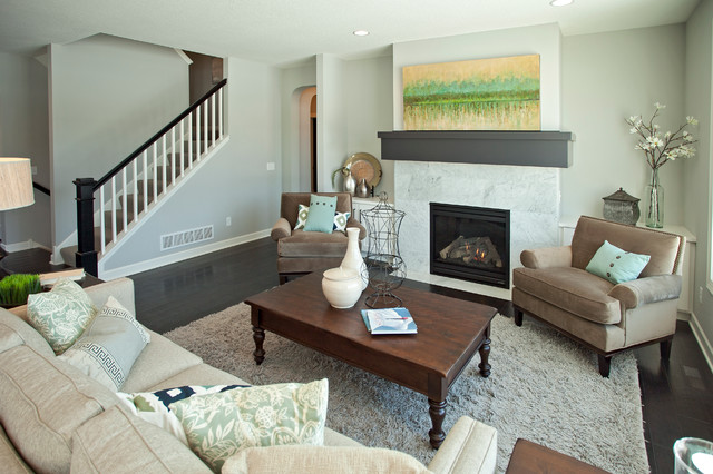 The Chandler Traditional Living Room minneapolis