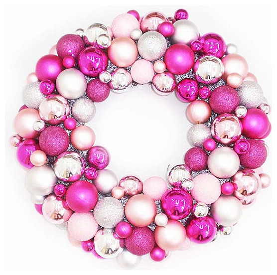 Shatterproof christmas ball ornament wreath by