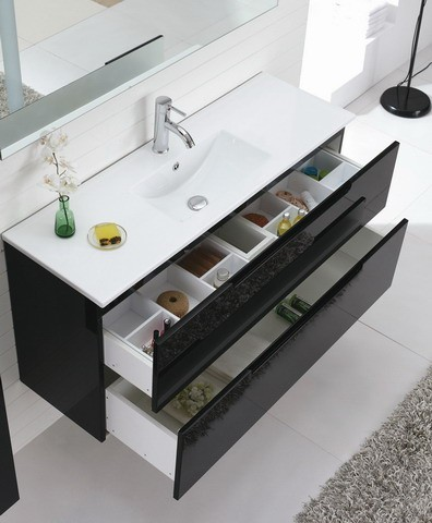 Aspen 1200mm Black Bathroom Vanity Modern Bathroom Vanities And Sink Consoles Brisbane