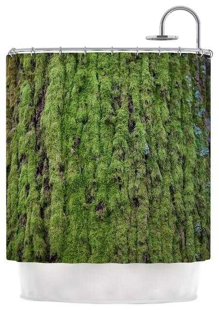 Susan Sanders Emerald Moss Green Nature Shower Curtain