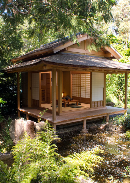Japanese tea house asian san francisco by ki arts for Asian inspired house plans