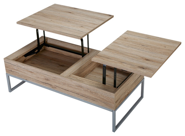 Cerise Wood Lift Top Storage Coffee Table