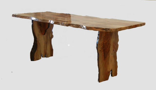Live Edge Sycamore Table Eclectic Dining Tables