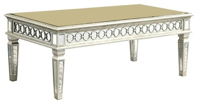 elegant audrey coffee table silver mirror coffee tables by