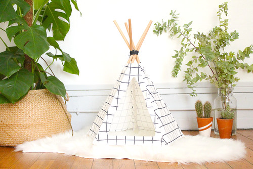 diy faites plaisir votre chat avec une niche tipi. Black Bedroom Furniture Sets. Home Design Ideas