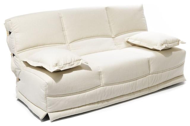 naturela couette cru pour banquette clic clac 130cm classique housse de canap et de chaise. Black Bedroom Furniture Sets. Home Design Ideas