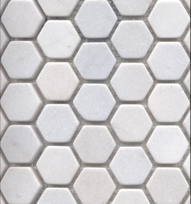 white snow marble hexagon traditional tile other