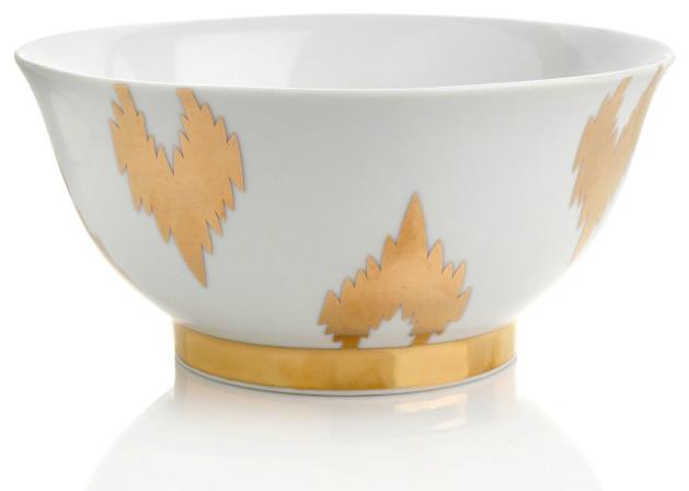 Nate Berkus Porcelain Ikat Bowl Eclectic Serveware