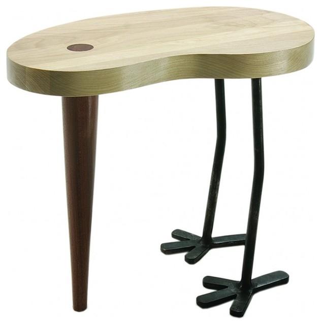 tabouret bois et pieds m tal 36cm contemporain marche. Black Bedroom Furniture Sets. Home Design Ideas