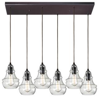 Elk Lighting 60047 6rc Menlow Park 6 Light Pendants In