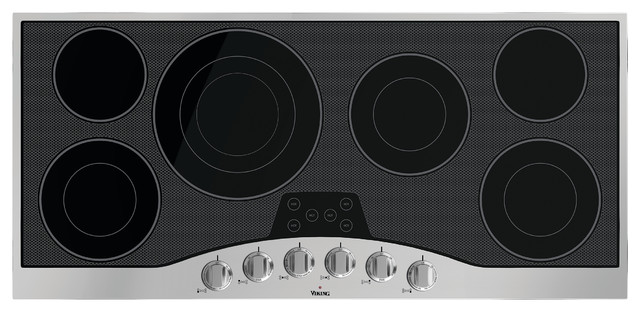 Viking Electric Cooktop ~ Viking series quot electric cooktop stainless with black