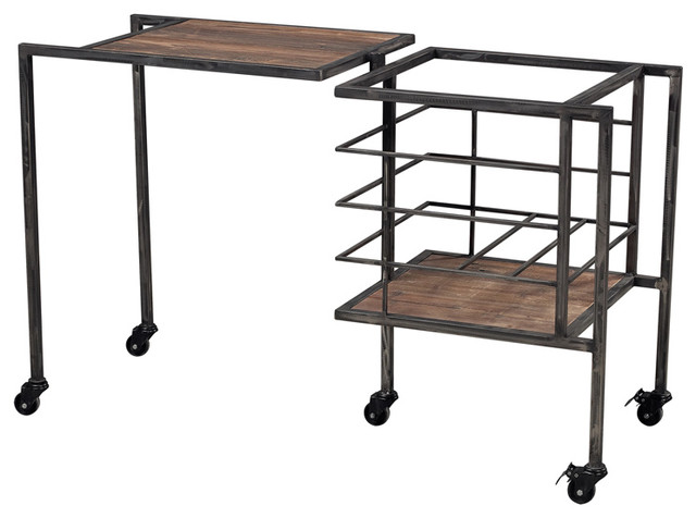 Sterling Industries 51 10023 Industrial Fold Away Storage Bench Contemporary Side Tables And End