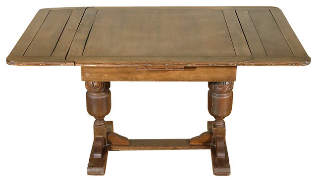 5Ft Wide Antique English Solid Oak Drawleaf Dining Pub  : traditional dining tables from www.houzz.com size 640 x 368 jpeg 40kB