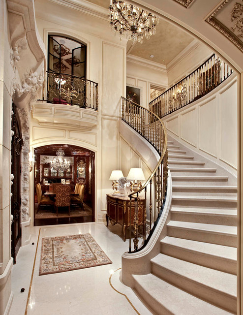 French Limestone Architectural Stone Traditional  : traditional staircase from www.houzz.com size 494 x 640 jpeg 128kB