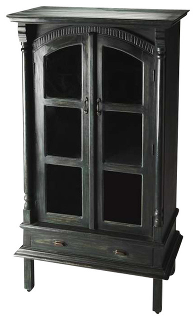 Butler Display Cabinet, Artifacts - Traditional - China Cabinets And Hutches - by ShopFreely