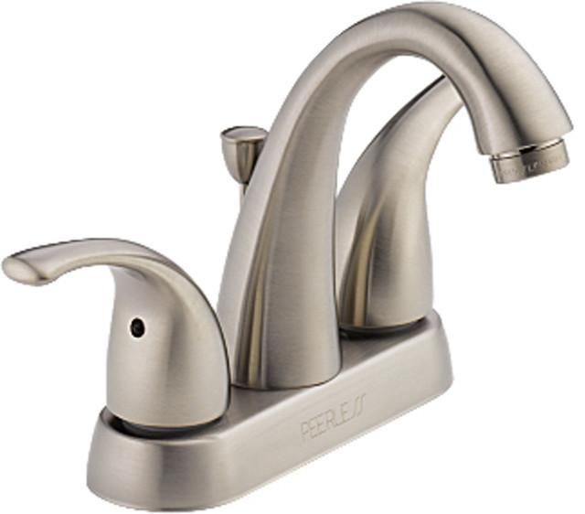 peerless p299696lf bn two handle lavatory faucet modern