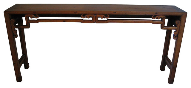Chinese long narrow console contemporary console tables for Narrow console table modern