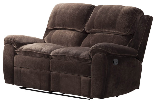 Homelegance Reilly Double Reclining Loveseat In Brown