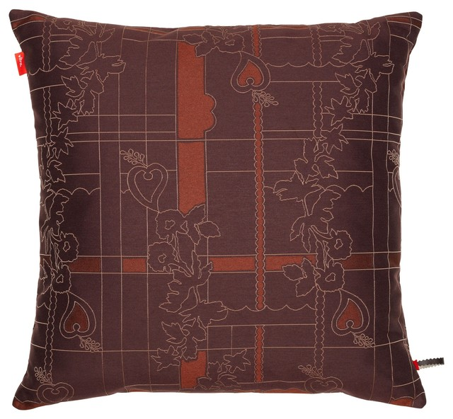 Eclectic Decorative Pillows : Maharam Cushion, Park Woven Cayenne/Syrah - Eclectic - Decorative Pillows - by Skandium