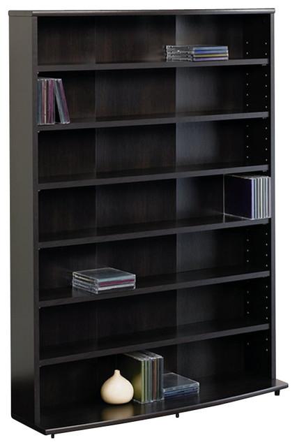 sauder o 39 sullivan multimedia storage tower in cinnamon cherry transitional media cabinets. Black Bedroom Furniture Sets. Home Design Ideas