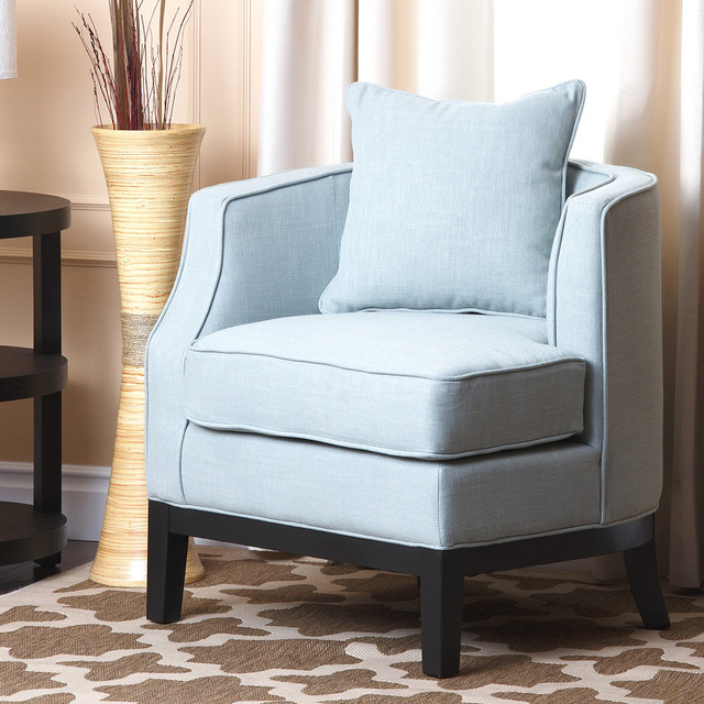 Corner Accent Chairs: Abbyson Living Eve Blue Fabric Corner Chair