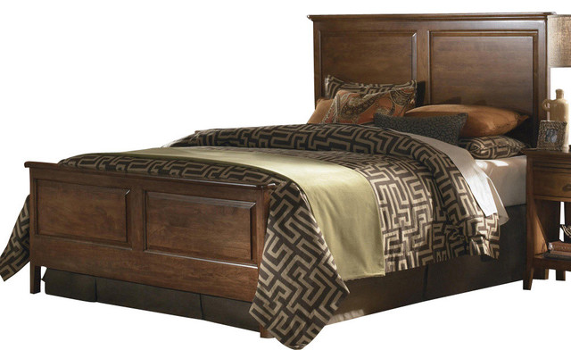 Kincaid Cherry Park Solid Wood Panel Bed Traditional Panel Beds By Bedroom Furniture Discounts