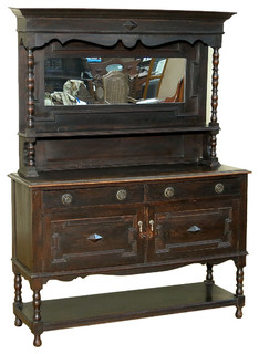 Consigned 1940 Antique Solid Oak Mirrorback Buffet ...