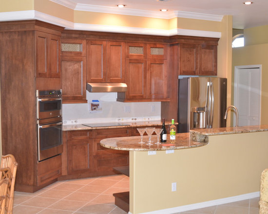 Cherry wood kitchen cabinets home design ideas pictures for Cherrywood kitchen designs