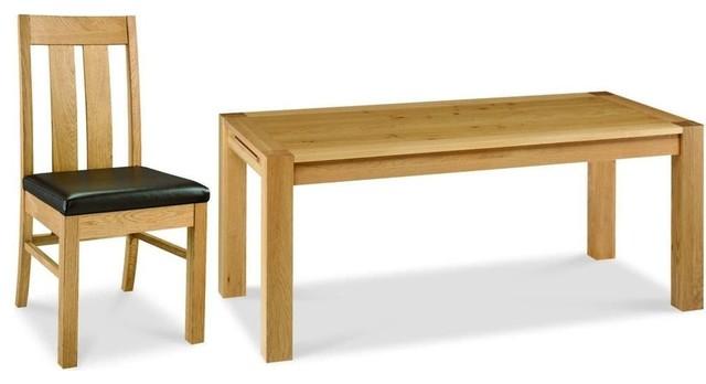 Bentley designs lyon oak dining set cm extending
