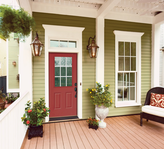 Ranch half lite entry door traditional front doors orange county by homestory of orange - Front door color ideas inspirations can use ...