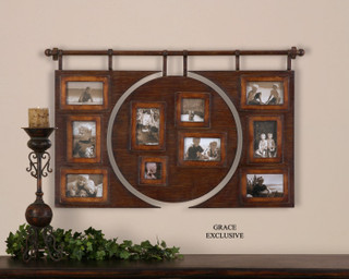 13709 Bavai Hanging Photo Collage By Uttermost Modern Home Accessories