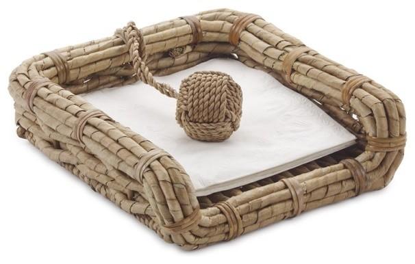 Seagrass napkin holder exotique porte serviette en - Porte serviette en papier ...