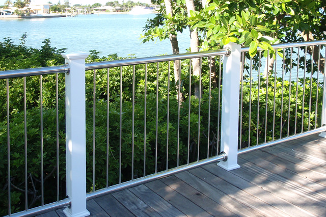 Stainless Steel Vertical Baluster Railing - Modern - Home Fencing And Gates - boston - by ...