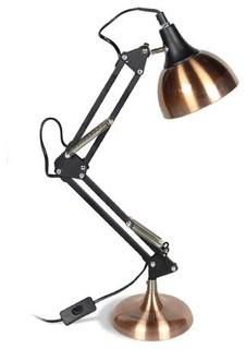 Xxl lampe de bureau articul e acier cuivre h65cm industriel lampe de bure - Lampe articulee industrielle ...