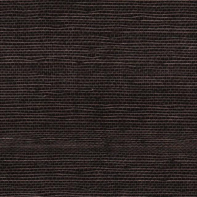 Abaca Grass Cloth Wall Covering, Ebony Glazed contemporary-wallpaper